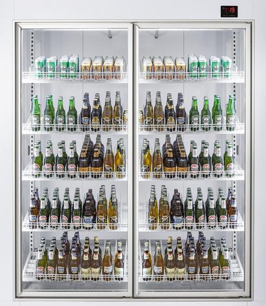 Klaasustega külmkamber 1800x1200x2200mm