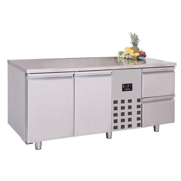 Külmtöölaud kahe ukse ja kahe sahtliga 1785x700x850mm
