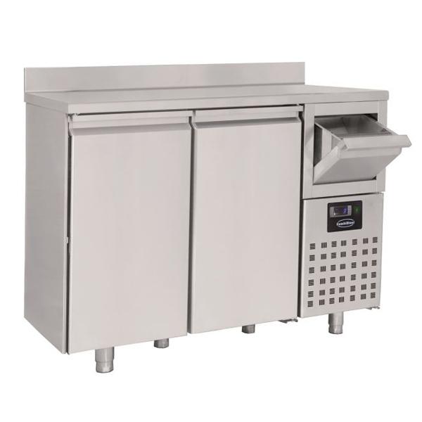 Külmtöölaud kahe uksega 1580x600x1050mm