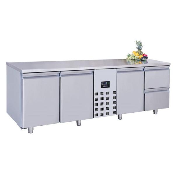 Külmtöölaud kolme uksega ja kahe sahtliga 2270x700x850mm
