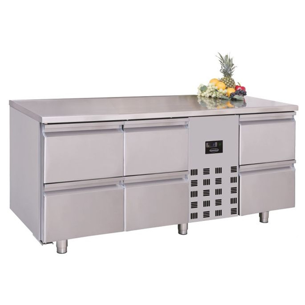 Külmtöölaud kuue sahtliga 1785x700x850mm