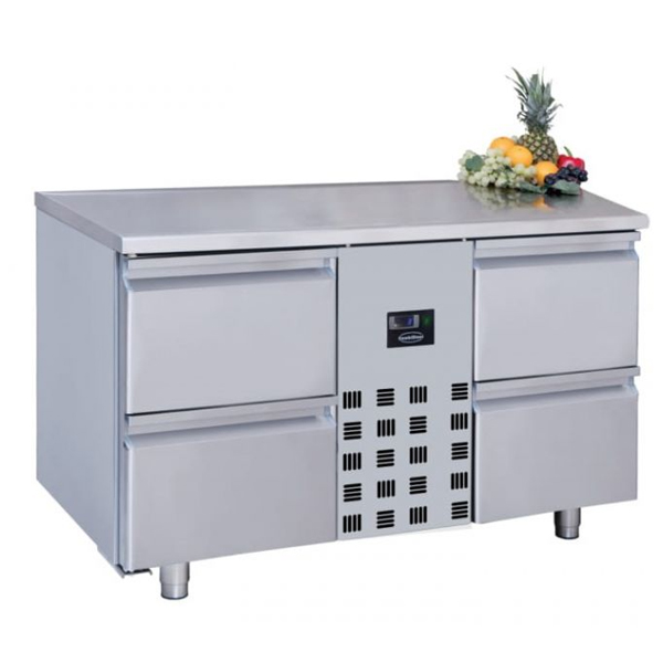 Külmtöölaud nelja sahtliga 1300x700x850mm