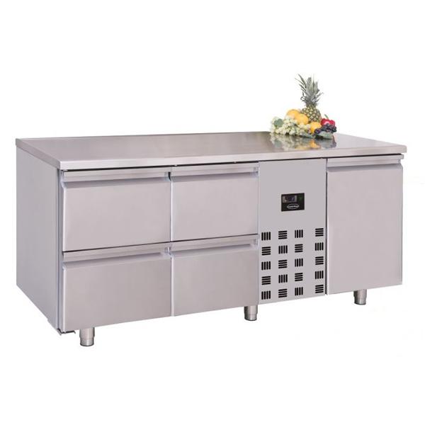 Külmtöölaud ühe ukse ja nelja sahtliga 1785x700x850mm