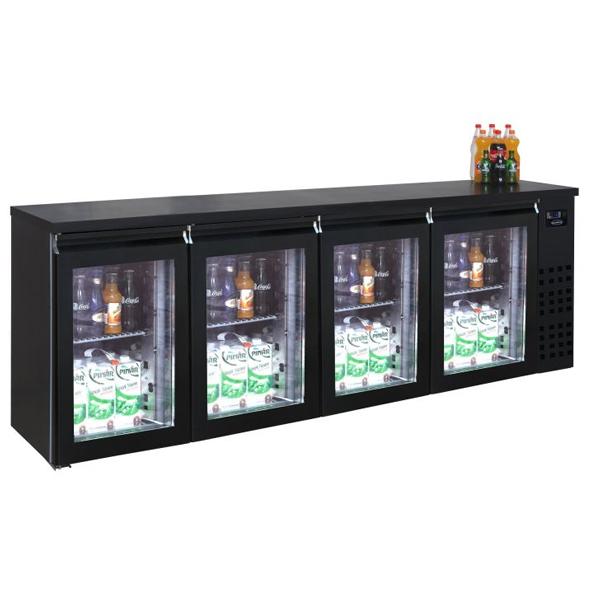 Baarilett nelja klaasuksega 2490x550x950mm