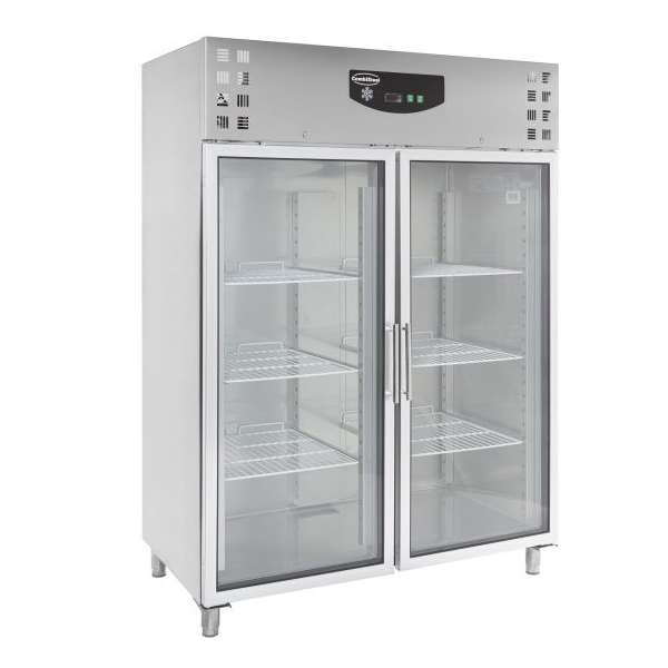 Külmkapp SS kahe klaasuksega 1480x830x2010mm