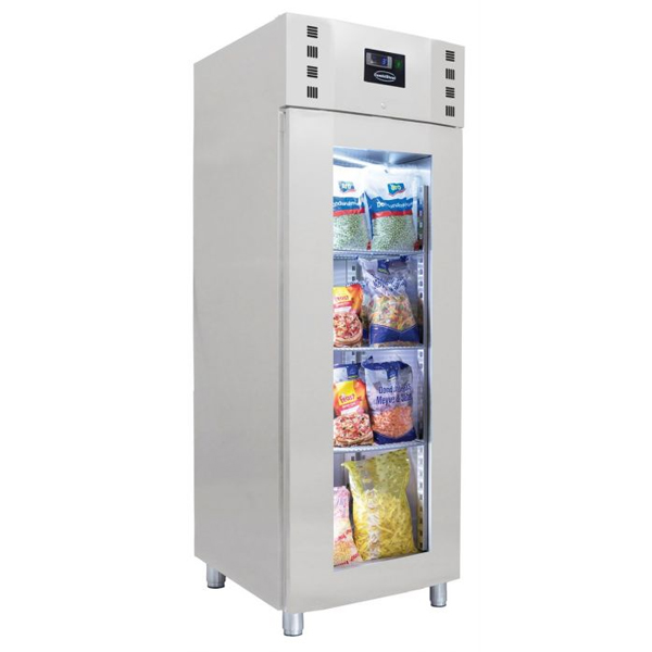 Külmkapp SS klaasuksega monoplokk 700x810x2050mm
