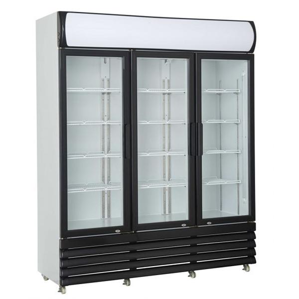 Külmkapp kolme klaasuksega 1600x610x1973mm