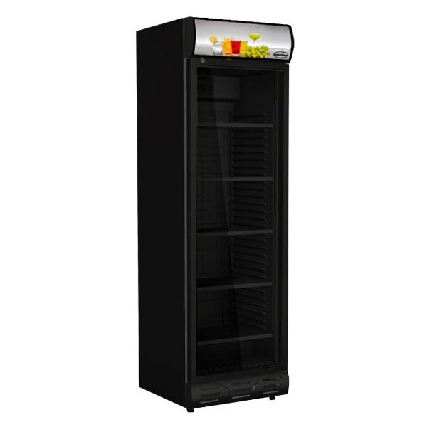 Külmkapp must ühe klaasuksega 595x650x2000mm