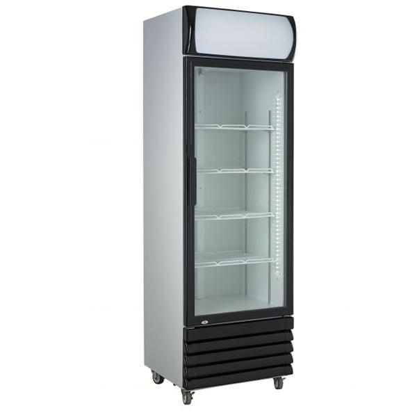 Külmkapp ühe klaasuksega 610x610x1973mm
