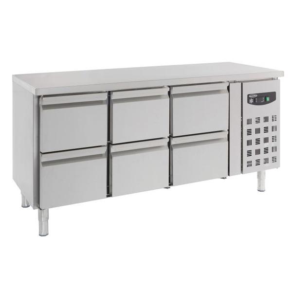Külmtöölaud kuue sahtliga 1795x700x850mm