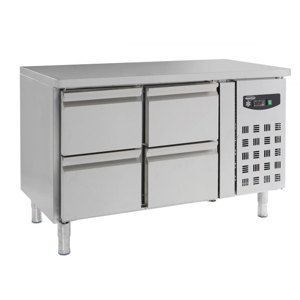 Külmtöölaud nelja sahtliga 1360x700x850mm