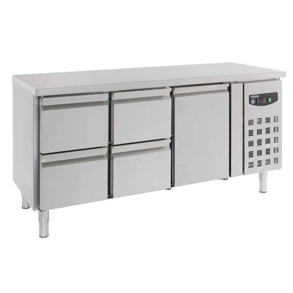 Külmtöölaud ühe ukse ja nelja sahtliga 1795x700x850mm