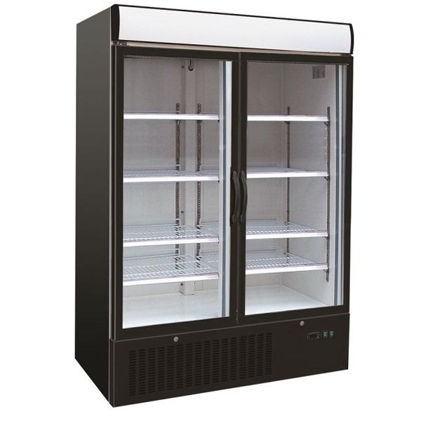 Külmkapp kahe klaasuksega 1370x700x1990mm