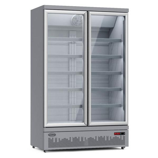 Külmkapp kahe klaasuksega JDE-1000R 1253x710x1997mm