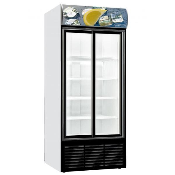 Külmkapp klaasist liugustega 1103x689x2000mm