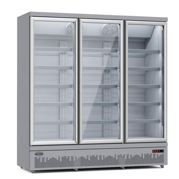 Külmkapp kolme klaasuksega JDE-1530R 1880x710x1997mm