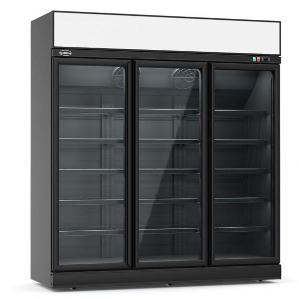 Külmkapp kolme klaasuksega must INS-1530R 1880x710x2092mm