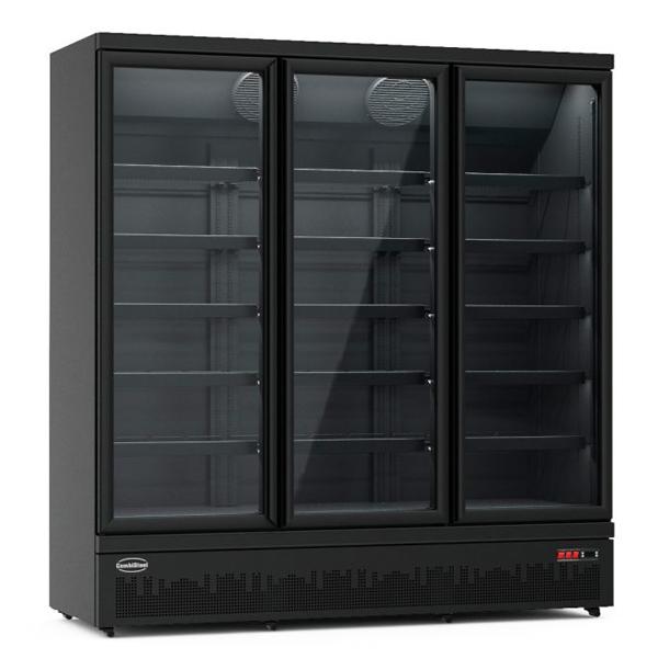 Külmkapp kolme klaasuksega must JDE-1530R 1880x710x1997mm