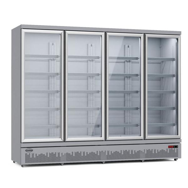 Külmkapp nelja klaasuksega JDE-2025R 2508x710x2003mm